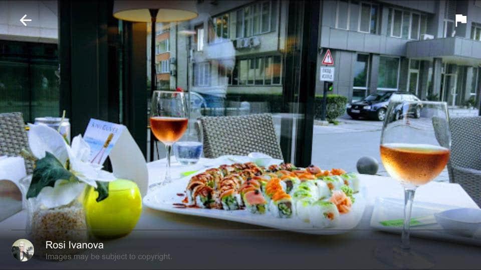 Sushi i vino v restorant lozenec